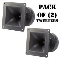 "Pair of Pyle PH44 4""x4"" DJ Pro Audio 150W High Power Compression Horn Tweeters"