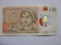 LUCKY £10 NOTE JANE AUSTEN TEN POUND ANNIVERSARY BIRTHDAY 20 10 48 OCTOBER 1948
