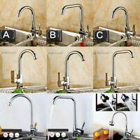 eub Stainless Steel Kitchen Sink Swivel Spout Mixer Faucet Singl Handle/Hole Tap