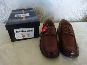 Mens Shoes Cushion Walk Tan Brown Loafer Lace up UK 8 BNIB