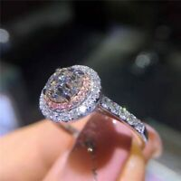 Silber Ring 925er Sterlingsilber Damen Zirkonia Verlobungsring Damenring Ringe