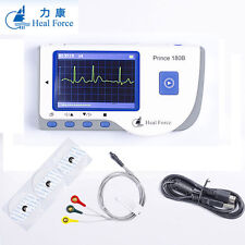 HEAL FORCE 180B Handheld ECG EKG Portable Heart Monitor+ CONTEC FINGER OXIMETER