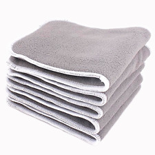 5 Baby Cloth Diaper Nappies Inserts Reusable Washable Charcoal Bamboo 4 layers