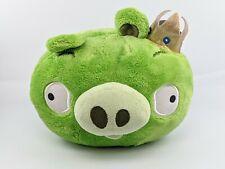 "Angry Birds Plush King Pig Crown Stuffed Animal Bird Toy Bad Piggies 8"" No Sound"