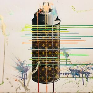 MR CLEVER ART LUXURY DESIGNER SPRAY CAN PAINTING PAPER contemporary street pop