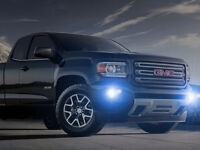 White Halo Fog Lamps Driving Light Kit for 2015-2020 GMC Canyon & Chevy Colorado