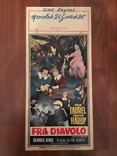 LOCANDINA,S13,FRA DIAVOLO,The Devil's Brother  Stan Laurel,Oliver Hardy,H.Roach