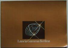 Lancia Gamma 2500 Berlina 1977-78 Original German Sales Brochure No. 88795873