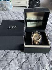 JBW Women's Mondrian 18K Rose Gold Plated SS Diamond Bracelet , Watch set