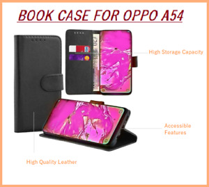 For Oppo A54 5G Case Case Leather Wallet Book Flip Folio Stand Cover