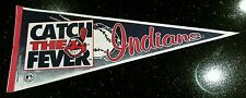 Vintage 1993 MLB Cleveland Indians CATCH THE FEVER Full Size RARE Pennant 30x12