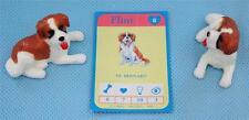 RARE Puppy in My Pocket Lot of 2 St. Bernard Dogs #8 Flint & 1993 Hasbro Card