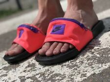 Nike Benassi JDI Fanny Pack Slides AO1037-600 Hyper Punch UK 13 EU 48.5 US 14