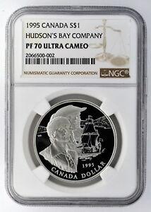1995 Canada S$1 Silver Dollar Hudson's Bay Company NGC PF 70 Ultra Cameo