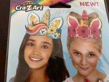 Cra-Z-Art Craft Kit Unicorn Tiaras, DIY Thick Paper Holographic Stickers