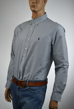 Ralph Lauren Custom Fit Navy Blue & Green Check Shirt/Blue Pony-NWT