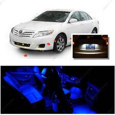 For Toyota Camry W Sunroof 12-16 Blue LED Interior Kit + White License Light LED