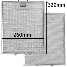 2 filtres treillis métallique pour ARTHUR MARTIN cuisinière hotte vent 320 x 260 mm