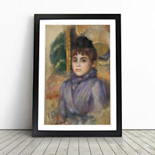 More details for portrait of a young woman by pierre-auguste renoir wall art framed print picture