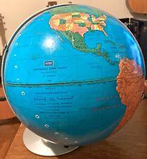 Vintage Globe-Pre 1970-Some Wear But Vivid Colors-Modern School-Replogle-Usa Mad