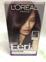 L'OREAL FERIA MULTI-FACETED SHIMMERING 3x Highlights 32 Midnight Ruby NEW.