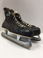 Vintage CCM Falcon Ice Hockey Skates senior 11 With Box and Leather Skate Guards