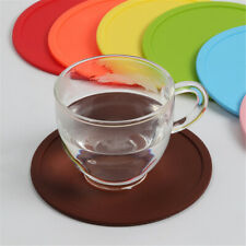 Silicone Drink Round Coaster Reusable Replacemat Pad Holder Coffee Tea Mug Mat