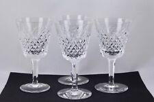 "SET OF 4 WATERFORD CRYSTAL ALANA 6"" CLARET WINE GLASSES - MINT"