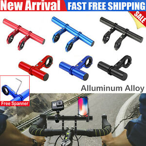 UK Bicycle Handlebar Extender Bike Bar Extension Phone Lamp Mount Holder Bracket