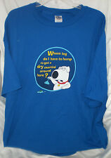 FAMILY GUY BRIAN MARTINI WHOSE LEG DO I HAVE TO HUMP XXL T SHIRT N/ TAGS VINTAGE