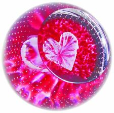 "Caithness Glass ""Forever in my Heart"" red love paperweight U16093"