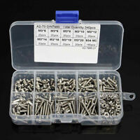 340pcs Stainless Steel M3 Hex Screws & Socket Bolts And Nuts Assorted Kit 5-20mm