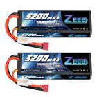 2x Zeee 100C 5200mAh 7.4V LiPo Battery 2S Deans Hardcase for RC Car Truck Heli