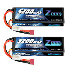 2x 100C 5200mAh 7.4V LiPo Battery 2S Deans Hardcase for Rc Car Truck Helicopter