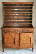 Antique FRENCH PROVINCIAL FIGURED VAISSELIER 19THC China Cabinet Hutch Dresser
