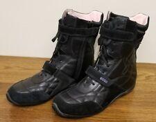 Ecco Black Suede/Leather Side Zip/Lace Up  Women's Boots Size EU 37/US 6 - 6.5