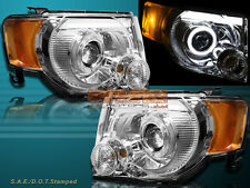 08-12 Ford Escape XLT XLS Chrome DRL Strip LED Halo Projector Headlights