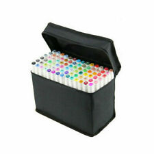 80 Color SET Alcohol Graphic Art Twin Tip Drawing Pen Marker Broad Fine Point !&