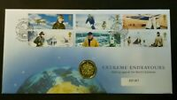 GB 2003 Extreme Endeavours PNC Cover £1 Coin Brilliant Uncirculated BU