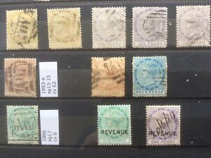 Dominica. 1883-6. Nice Selection Of Early Victoria Fine Used.
