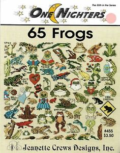 65 Frogs by Jeanette Crews Designs cross stitch pattern