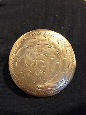 1950's Brooch Pin Signed B Vintage Burkhardt Birks Sterling Round Engraved