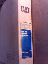 CAT Caterpillar Service Manual No. 16 Motor Grader Man Form REG00529 1J-1047-A11