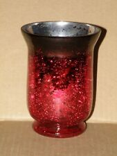 RED MERCURY GLASS CANDLE HOLDER NWTS