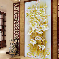 DIY 5D Diamond Embroidery Painting Lily Flower Mosaic Cross Stitch Craft Kit New