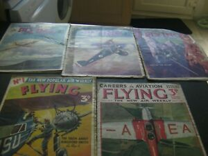 LOT OF 5 FLYING ( NEW AIR WEEKLY) AVIATION , 1938 / 1939 . incl Issue 1