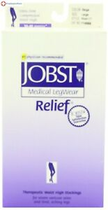 Jobst Relief Pantyhose Closed Toe Beige 30-40 mmHg Compression Support
