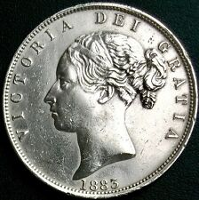 Superb Quality Investment Condition Queen Victoria (1884) Silver Half Crown