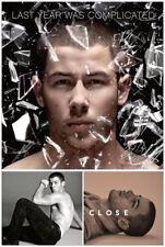 Nick Jonas Promo poster Last Year Was Complicated Close Voodoo bacon sexy gay