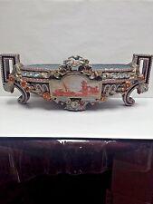 Antique Large Emile Galle` Nancy Porcelain Bowl Centerpiece Hand painted Rare
